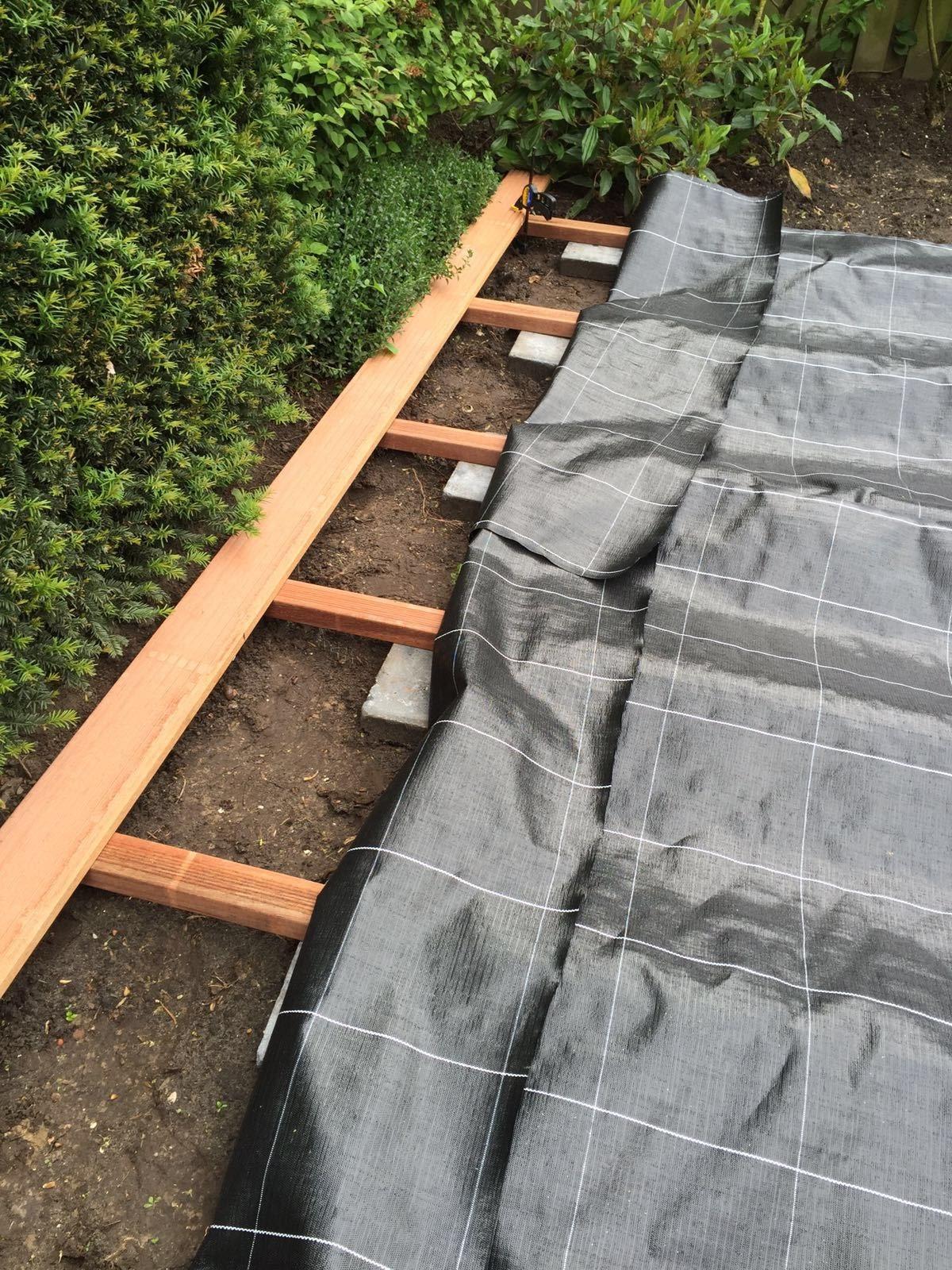 Vlonder aanleg verpalen hoveniers - Bedek een houten terras ...